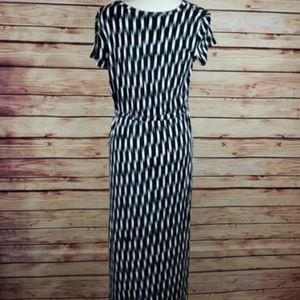 Michael Kors Size 3XL Long Black White Dress